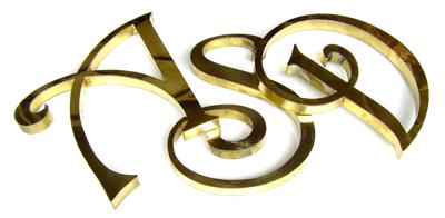 3d brass letters