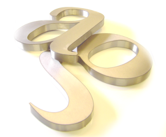 3d metal lettering