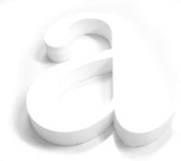a polystyrene letter
