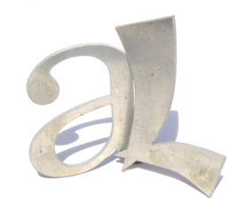 aluminium lettering