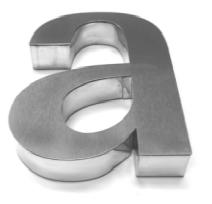 aluminium built up letters