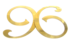 brass letter number six