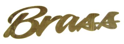 brass lettering image