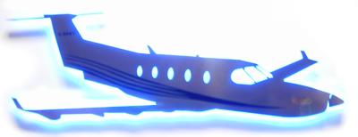 built up stainless steel plane logo