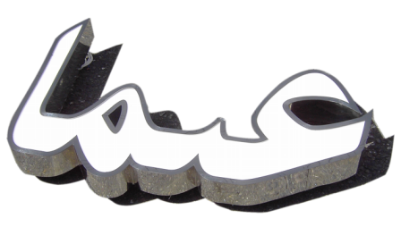 built up stainless steel logo