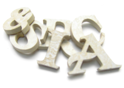 ceramic stone lettering