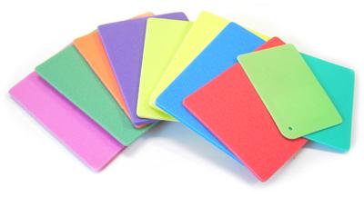 coloured foam colours