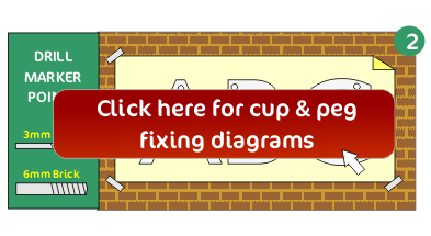 Cup & peg fixing diagrams