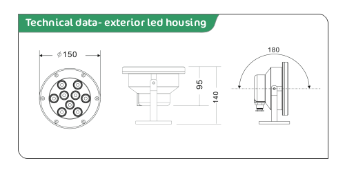 exterior led spotlight data