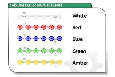 flexible led strips colour