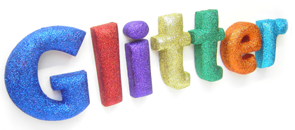 glitter lettering products