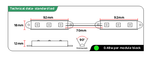 Green led module data