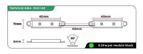 mini Green led modules
