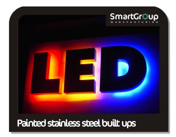 led illuminated built up letters