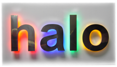 led halo lighting for built up letters