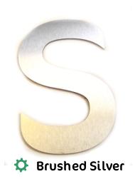 steel metal effect lettering