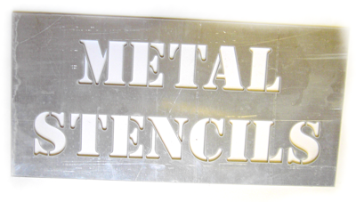 picture of a metal stencil