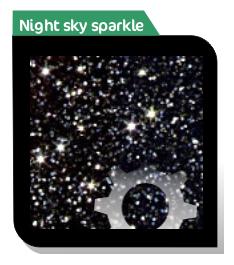 night sky sparkle effect acrylic sheet
