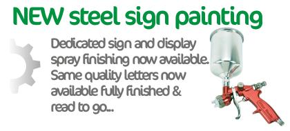 painted mild steel lettering