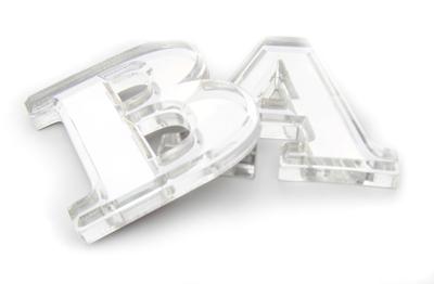 plastic chrome letters
