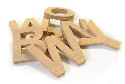 plywood lettering examples