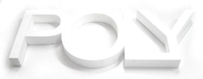 polystyrene lettering
