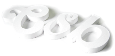 polystyrene letters