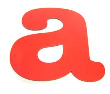 red pvc letter