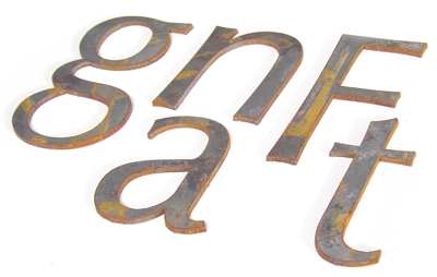 steel lettering photograph