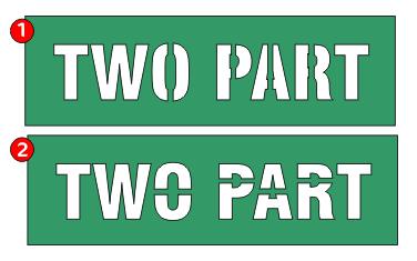 two part stencils