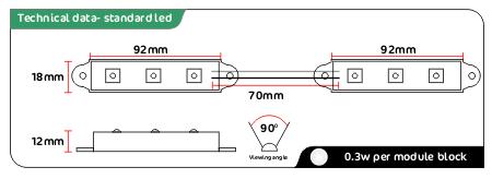 white led module data